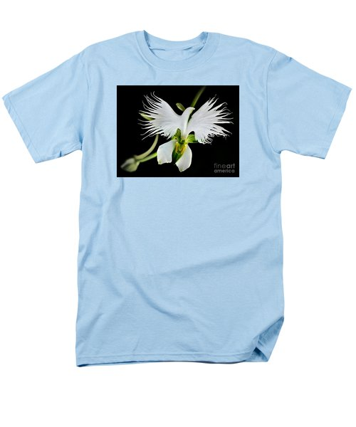 Flower Oddities - Flying White Bird Flower Men's T-Shirt  (Regular Fit) by Merton Allen
