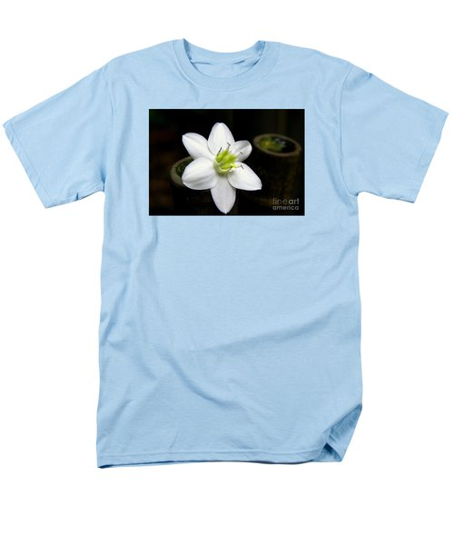 Men's T-Shirt  (Regular Fit) featuring the photograph Flower On Bamboo by Lisa L Silva