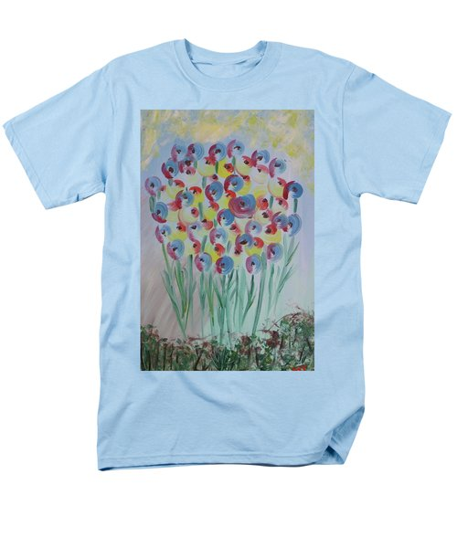 Flower Twists Men's T-Shirt  (Regular Fit) by Barbara Yearty