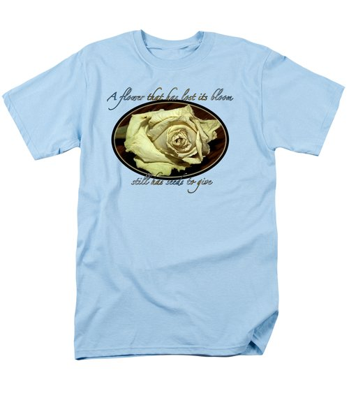 Flower Wisdom Men's T-Shirt  (Regular Fit) by Phyllis Denton