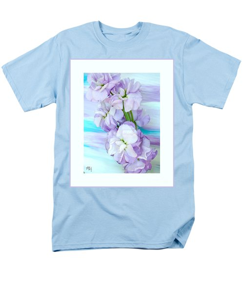 Men's T-Shirt  (Regular Fit) featuring the mixed media Fluffy Flowers by Marsha Heiken