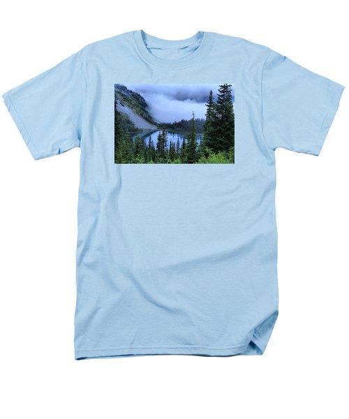 Fog Over Louise Lake Men's T-Shirt  (Regular Fit) by Lynn Hopwood