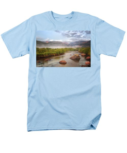 Foggy Morning In Moraine Park Men's T-Shirt  (Regular Fit) by Ronda Kimbrow