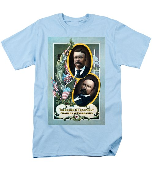 For President - Theodore Roosevelt And For Vice President - Charles W Fairbanks Men's T-Shirt  (Regular Fit) by International  Images