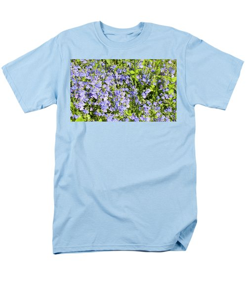 Forget-me-not - Myosotis Men's T-Shirt  (Regular Fit) by Irina Afonskaya
