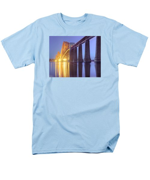 Forth Bridge Twilight Men's T-Shirt  (Regular Fit) by Ray Devlin