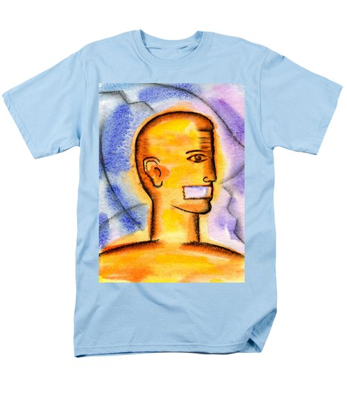 Men's T-Shirt  (Regular Fit) featuring the painting Freedom Of Press  by Leon Zernitsky