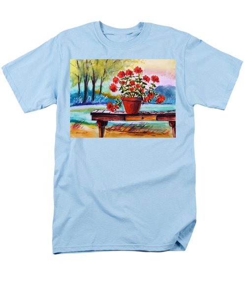 Men's T-Shirt  (Regular Fit) featuring the painting From The Potting Shed by John Williams