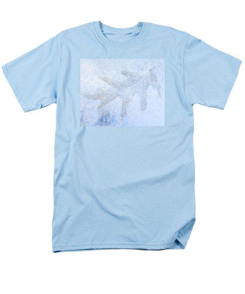 Frozen Oak Leaf Imprint Men's T-Shirt  (Regular Fit) by Kathy M Krause