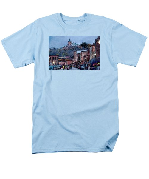 Galena Illinois Men's T-Shirt  (Regular Fit) by David Blank