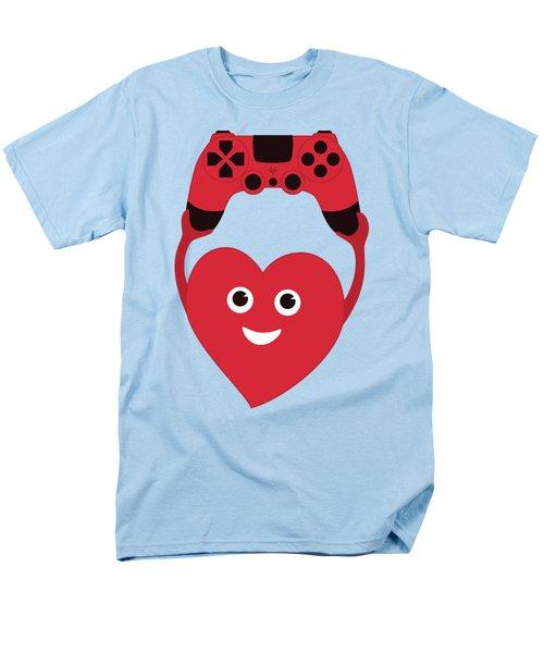 Gamer Heart Men's T-Shirt  (Regular Fit)