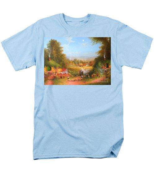 Gandalf's Return Fireworks In The Shire. Men's T-Shirt  (Regular Fit) by Joe  Gilronan