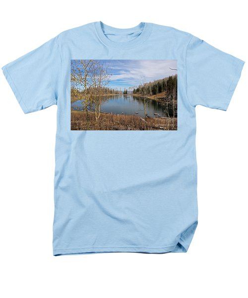 Gates Lake Men's T-Shirt  (Regular Fit) by Cindy Murphy - NightVisions