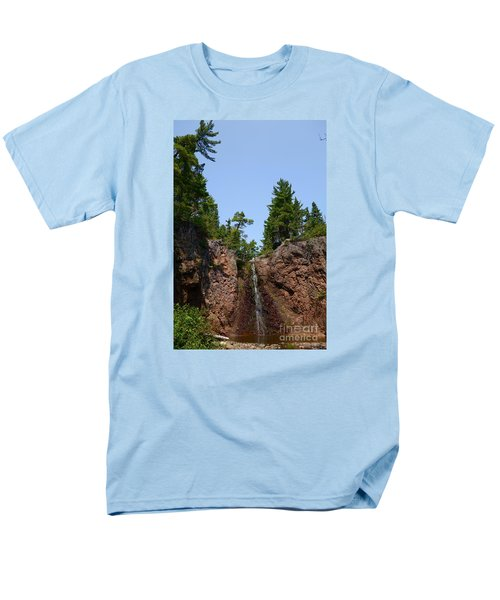 Men's T-Shirt  (Regular Fit) featuring the photograph Gauthier Falls In Late August by Sandra Updyke