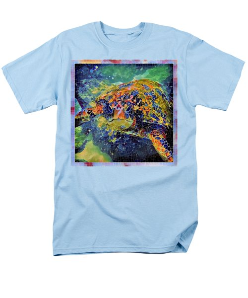 Men's T-Shirt  (Regular Fit) featuring the painting George The Turtle by Erika Swartzkopf