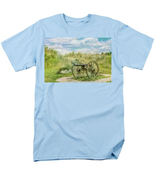Gettysburg Battlefield Cannon Ver Two Men's T-Shirt  (Regular Fit) by Randy Steele