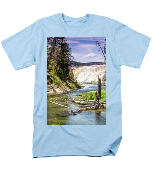 Men's T-Shirt  (Regular Fit) featuring the photograph Geyser Stream by Dawn Romine
