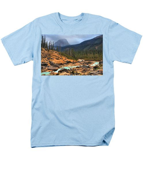 Men's T-Shirt  (Regular Fit) featuring the photograph Glacier Waters Flowing Through Yoho National Park by Adam Jewell