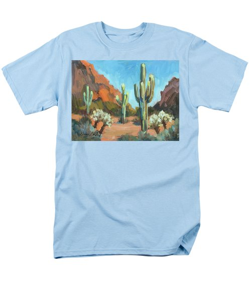 Men's T-Shirt  (Regular Fit) featuring the painting Gold Canyon by Diane McClary