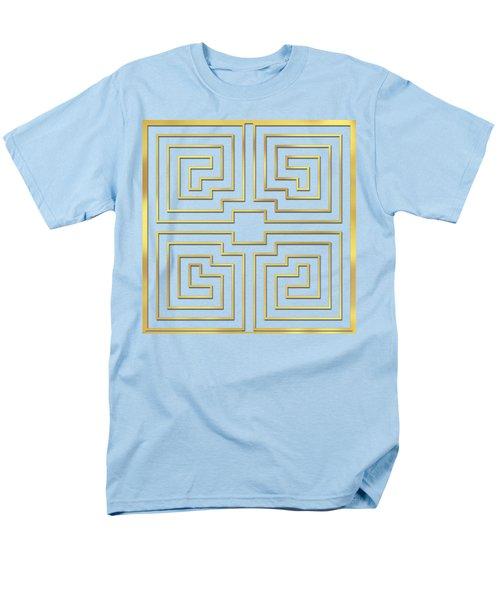 Men's T-Shirt  (Regular Fit) featuring the digital art Gold Stripes Transparent by Chuck Staley