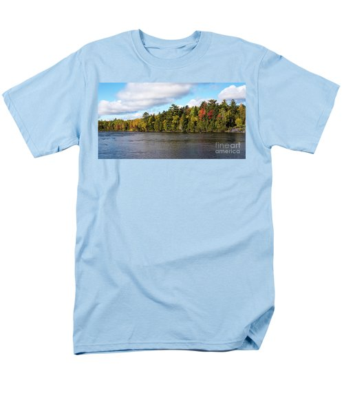 Golden Autum Day Men's T-Shirt  (Regular Fit) by Sandy Molinaro
