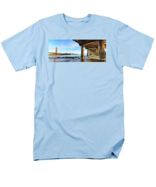 Men's T-Shirt  (Regular Fit) featuring the photograph Golden Gate Bridge From Under Fort Point Pier by Steve Siri