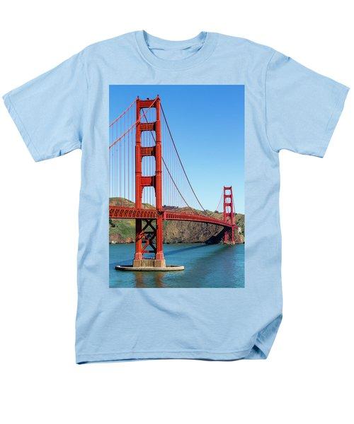 Golden Gate Bridge On Sunny Morning Men's T-Shirt  (Regular Fit) by Teri Virbickis