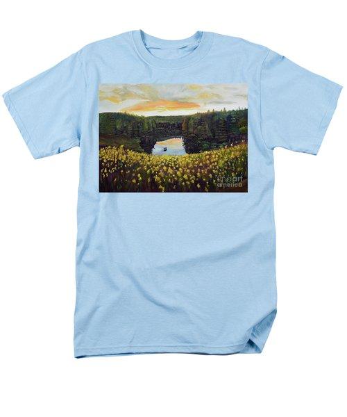 Goldenrods On Davenport Lake-ellijay, Ga  Men's T-Shirt  (Regular Fit) by Jan Dappen