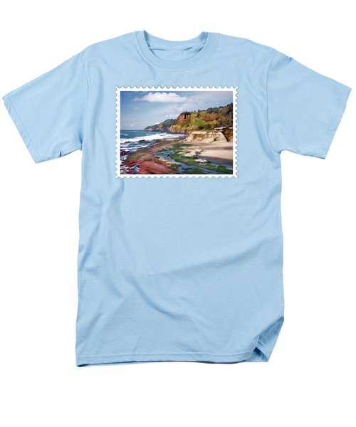 Gorgeous Oregon Coast Men's T-Shirt  (Regular Fit) by Elaine Plesser