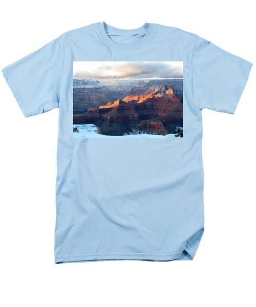 Grand Canyon With Snow Men's T-Shirt  (Regular Fit) by Laurel Powell