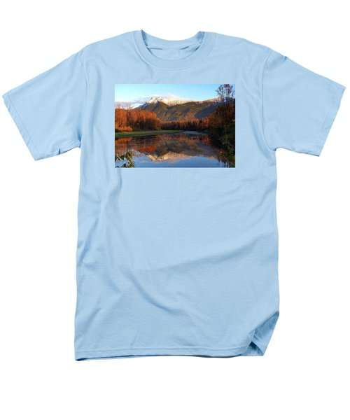 Mount Cheam, British Columbia Men's T-Shirt  (Regular Fit) by Heather Vopni