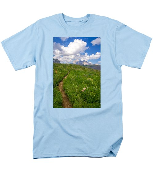 Grand Teton Scenic Hiking Path Men's T-Shirt  (Regular Fit) by Serge Skiba