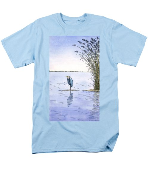 Great Blue Heron Men's T-Shirt  (Regular Fit) by Charles Harden