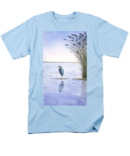 Great Blue Heron Men's T-Shirt  (Regular Fit) by Charles Harden