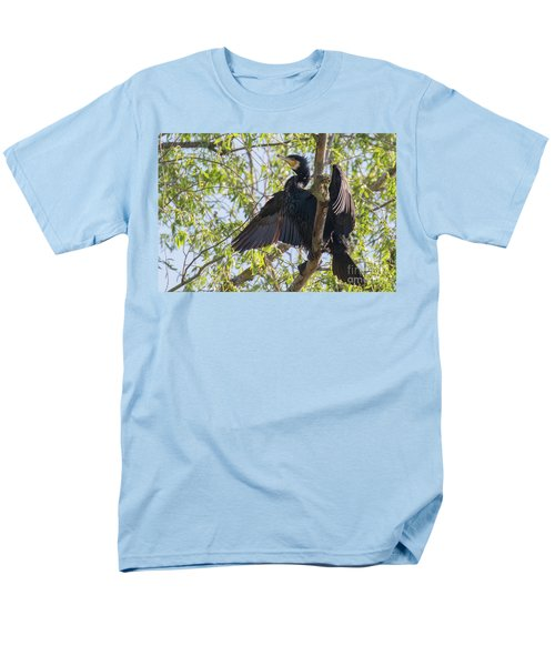 Great Cormorant - High In The Tree Men's T-Shirt  (Regular Fit) by Jivko Nakev