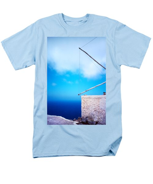 Greek Windmill Men's T-Shirt  (Regular Fit) by Silvia Ganora