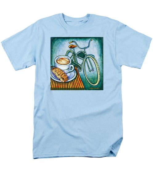 Green Electra Delivery Bicycle Coffee And Biscotti Men's T-Shirt  (Regular Fit) by Mark Jones