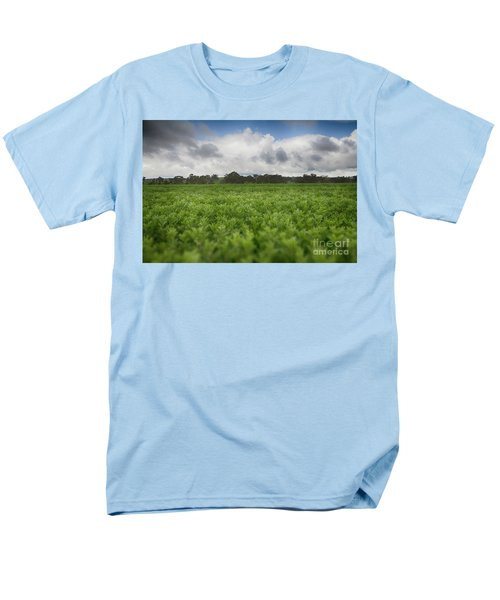 Men's T-Shirt  (Regular Fit) featuring the photograph Green Fields 4 by Douglas Barnard