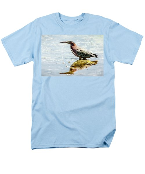 Men's T-Shirt  (Regular Fit) featuring the photograph Green Heron Bright Day by Robert Frederick