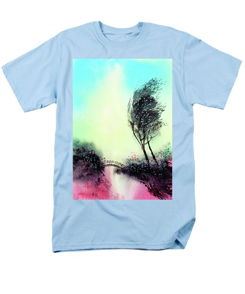 Men's T-Shirt  (Regular Fit) featuring the painting Greeting 1 by Anil Nene