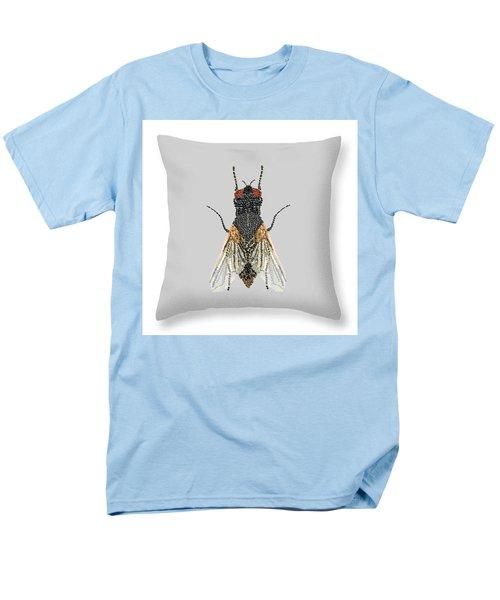 Men's T-Shirt  (Regular Fit) featuring the digital art Grey Fly Pillow by R  Allen Swezey