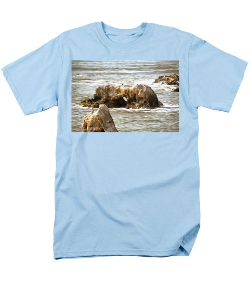 Men's T-Shirt  (Regular Fit) featuring the photograph Grey Water At Window Rock by Barbara Snyder