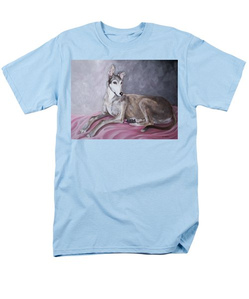 Greyhound At Rest Men's T-Shirt  (Regular Fit) by George Pedro