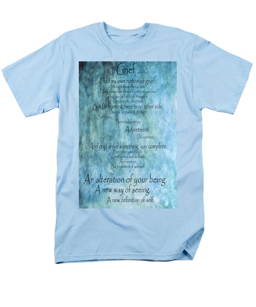 Men's T-Shirt  (Regular Fit) featuring the mixed media Grief 2 by Angelina Vick