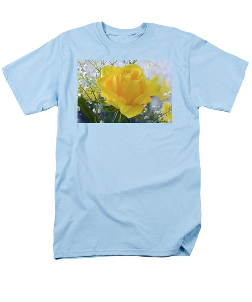 Men's T-Shirt  (Regular Fit) featuring the photograph Gypsophila And The Rose. by Terence Davis