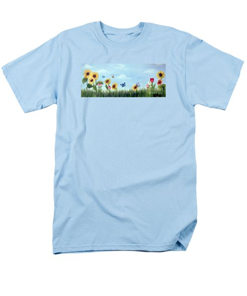 Men's T-Shirt  (Regular Fit) featuring the painting Happy Garden by Carol Sweetwood