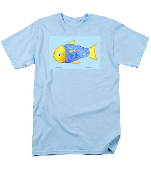 Happy Watercolor Fish Men's T-Shirt  (Regular Fit) by Fred Jinkins