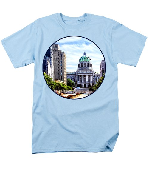 Harrisburg Pa - Capitol Building Seen From State Street Men's T-Shirt  (Regular Fit)