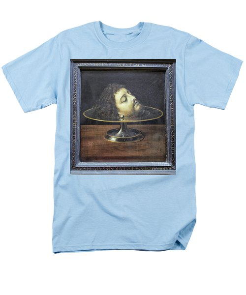 Men's T-Shirt  (Regular Fit) featuring the photograph Head Of John The Baptist, 1507, With Frame And Inscription -- By by Patricia Hofmeester