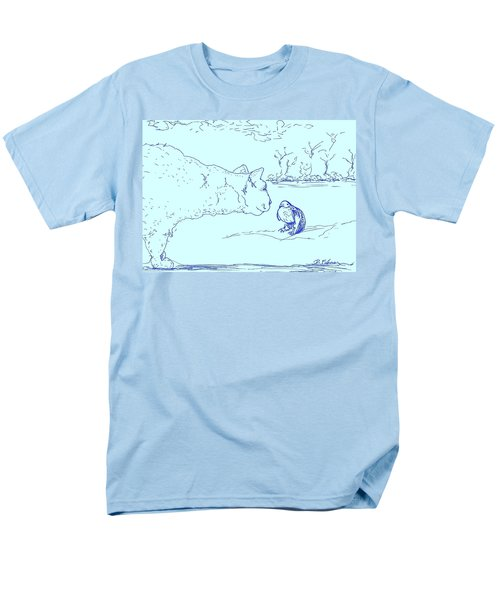 Men's T-Shirt  (Regular Fit) featuring the drawing Hello Birdie by Denise Fulmer